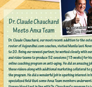 Dr. Claude Chauchard Meets Anxa Team