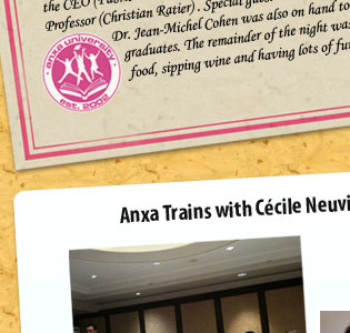 Anxa trains with Cécile Neuville